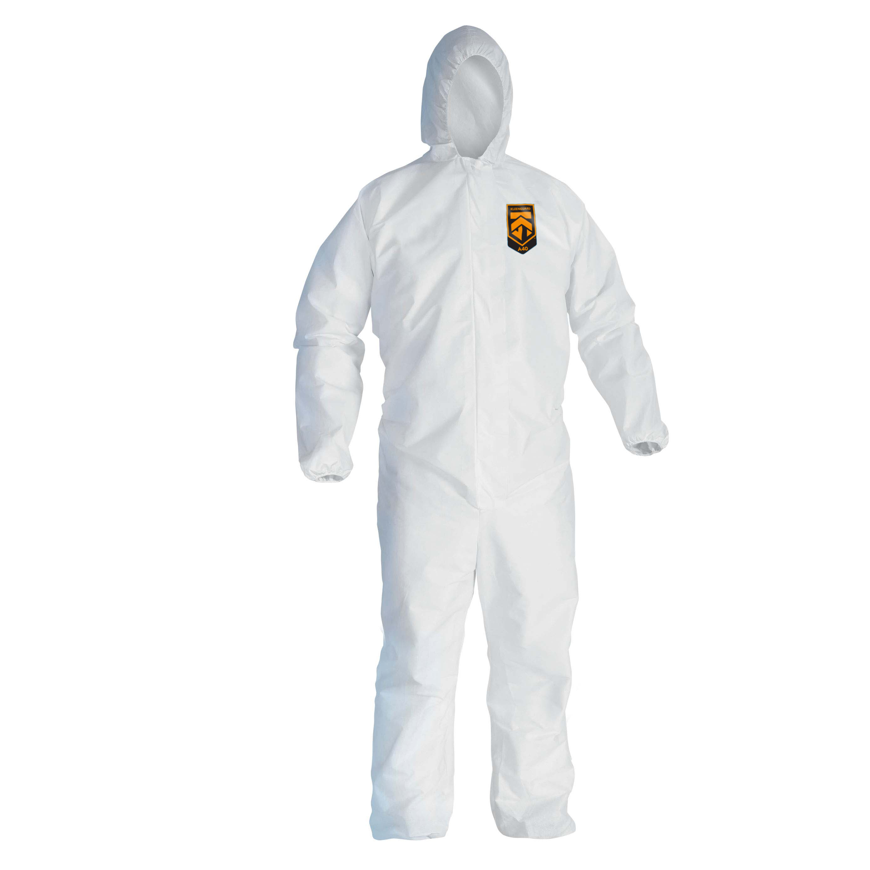 97910-KLEENGUARD A40 Liquid & Particle Protection Coveralls - Hooded / Medium / White